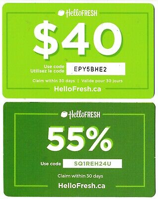 2 collectible HELLOFRESH gift card Canada Germany USA meal-kit