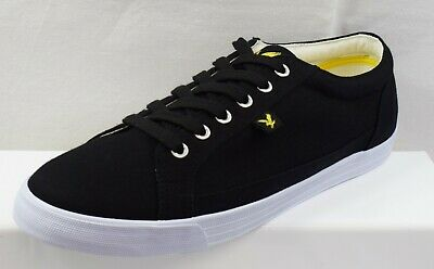 Lyle And Scott Helier Canvas  Men's Trainers  Brand New Size Uk 8 (Cn9)