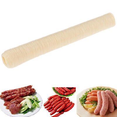 14m Collagen Sausage Casings Skins 24mm Long Small Breakfast Sausages ToolsMA