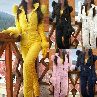 Women Winter Jumpsuit Warm Snowsuit Outdoor Sport Pant Ski Suit Waterproof Pants