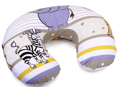 Feeding Pillow Baby Breast Pregnancy Maternity + Removable Cover Safari Beige