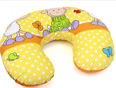 Feeding Pillow Baby Breast Pregnancy Maternity + Removable Cover Sheep Yellow