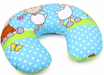 Feeding Pillow Baby Breast Pregnancy Maternity + Removable Cover Sheep Turquiose