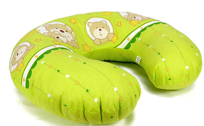 Feeding Pillow Baby Breast Pregnancy Maternity + Removable Cover Window Green