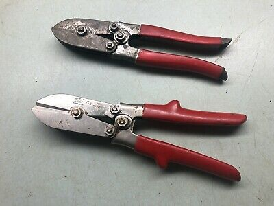 Pipe Crimper Sheet Metal Workers Tinner HVAC Tool USA MALCO C5 Lot of 2