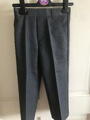 BNWOT Grey School Trousers. Boys. Age 3 - 9 Years. Elasticated Waist