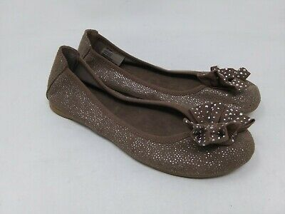 Girl/'s Youth SONOMA CLARA Black Bow Flats Casual//Dress Shoes Clearance