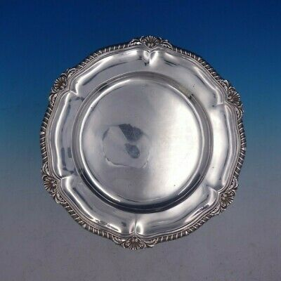 1890 Georgian Style Gadroon English Sterling Silver Charger Plate (#4139)