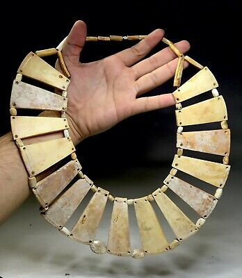 Ancient Pre Columbian Chimu Indian Shell Breast Plate Bead Pendants 800-1470 a.d