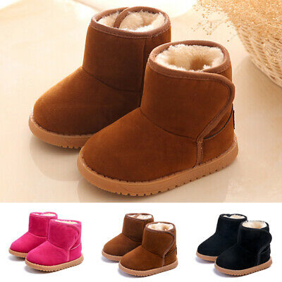 Kids Girls boots Toddlers Children Outdoor Winter Solid Shoes Girls boots