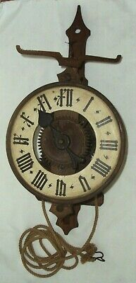 Antique German Black Forest Verge and Foliot Clock