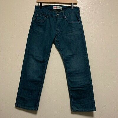Levi's boys 514 slim straight leg denim jeans medium blue wash size 10 husky boy