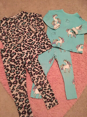 NEXT Girls Gorgeous Unicorn Pyjamas Set Bundle Age 2-3