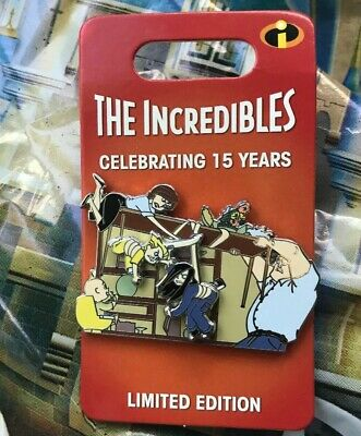 Disney Parks Pixar The Incredibles 15th Anniversary Dinner Table Pin LE 3000 New