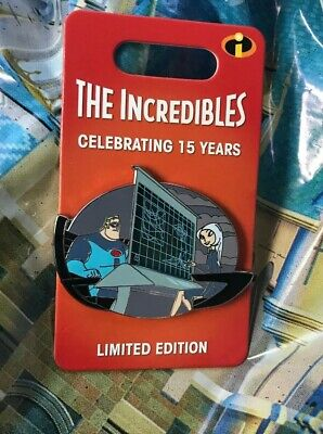 Disney The Incredibles 15th Anniversary Mr Incredible And Mirage Pin LE 3000 New