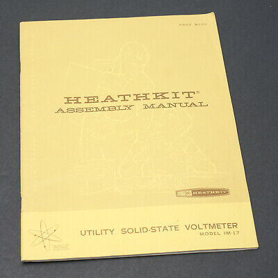 Heathkit Utility Solid-State Voltmeter Model IM-17 Assembly & Operation