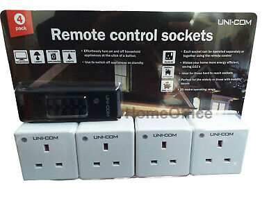Eveready 20M Range Remote Control Mains Sockets Control up to 4 Plugs 2PK NEW UK