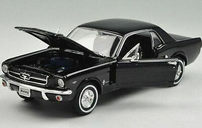 Ford Usa Mustang 1//2 Coupe 1964 Black Welly 1:24 WE22451BK