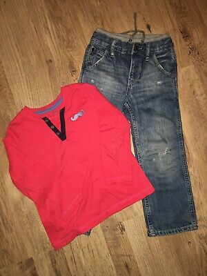 Boys Jeans Denim Trousers Jeans Size 3 Years Old And Long Sleeve Top