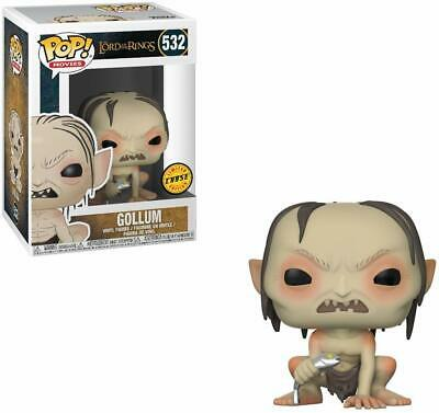 Funko Pop Lord of the Rings Gollum #532 Vinyl Figure CHASE w/ .5mm Box Protector