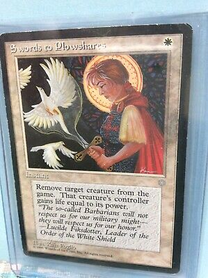 White Ice Age Mtg Magic Uncommon 4x x4 4 PLAYED Swords to Plowshares