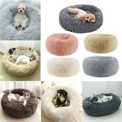 Comfy Calming Dog Cat Bed Round Warm Soft Plush Pet Bed Marshmallow Cat Bed XXXL