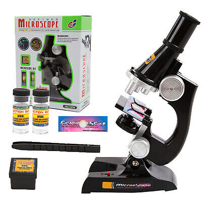 10Pcs Educational Learning Science Lab Kit Compound Microscope Toy Set for Kids