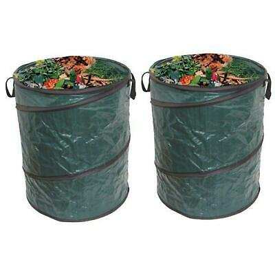Heavy Duty Large Strong Pop Up Garden Waste Refuse Rubbish Bags Set Of 2
