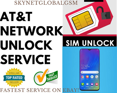 NETWORK UNLOCK SERVICE for AT&T SAMSUNG S10 S9 S8 S7 S6 ACTIVE Edge Note IMEI