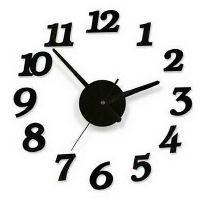 3D Large Number Wall Clock Sticker Watch Decal Home Living Room Office DIY Decor