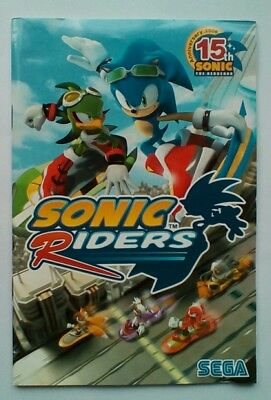 **INSTRUCTIONS ONLY** Sonic Riders Instruction Manual for PC