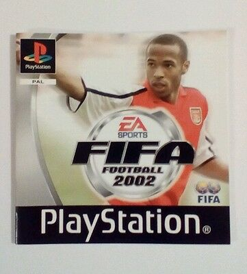 INSTRUCTIONS ONLY FIFA 2002 Manual  PS1 PSOne Playstation