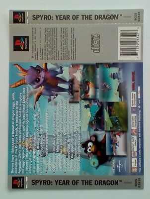 *BACK INLAY ONLY* Spyro Year Of The Dragon Back Inlay  PS1 PSOne Playstation