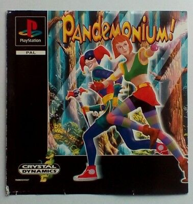 *FRONT INLAY ONLY* Pandemonium Front Inlay  PS1 PSOne Playstation