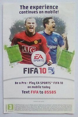 ***RARE*** FIFA 19 2010 Promotional Flyer Xbox 360 Live