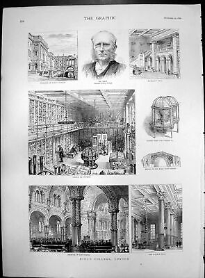 Old King'S College London George Iii Museum Interior Chapel Hall 1890 Victorian