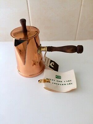 Vintage Rodd Copper Brass Coffee Pot - 1950's - Unused - Tags - Home Decor