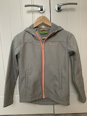Girls Mountain Warehouse Age 11-12 Softshell Waterproof Jacket Grey/Neon EUC