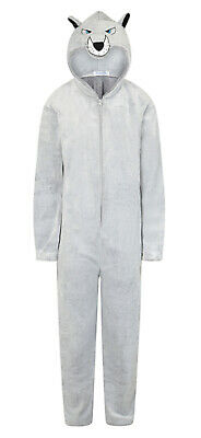 Mens 1Onesie Boys Novelty Hooded Fleece All In One Zip Jumpsuit Pyjamas Onezee