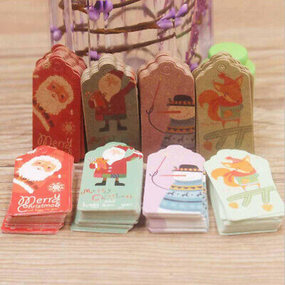 New Year Christmas Gift Hanging Tags Small Card Home Decoration Ornaments