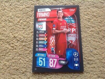Match Attax 2019/2020 Roberto Firmino base card Mint New Rare POST FREE UK Topps