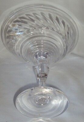 """Vintage 6-3/8"""" Clear Glass Compote / Candy Dish, Bright, Clear, Clean, Beautiful"""