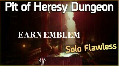 Destiny 2 Shadowkeep Pit of Heresy SOLO FLAWLESS PC  crossplay