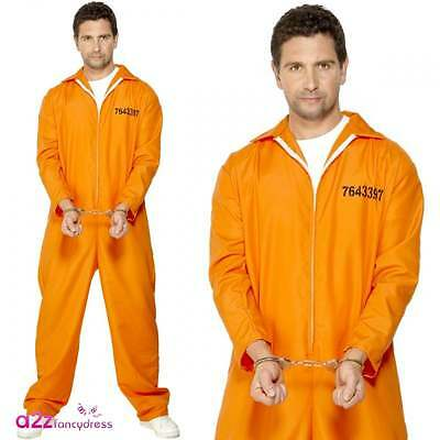 Adult Prison Break Convict Inmate Prisoner Fancy Dress Costume Mens Jail Stag Do 5 95 Picclick Uk