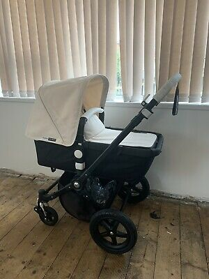 Bugaboo Cameleon 3 Black With Off White Hood And Apron