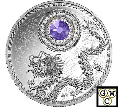 2016 'December-Birthstones'Crystal Prf $5 Silver Coin 1/4oz .9999Fine(NT)(17922)