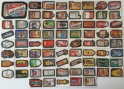 Wacky Packages Album Stickers Card Set 77 Sticker Cards 1986 Topps
