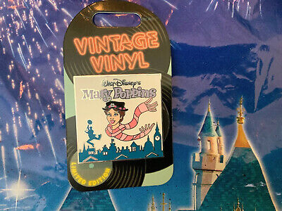 Disney Parks Mary Poppins Vintage Vinyl Record 8/2019 Pin Of The Month LE NEW