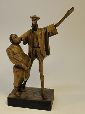 Ouro Artesania Made In Spain #246 Don Quixote & Sancho Panza Wood Carving Zd3-11