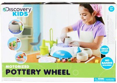 Discovery Kids Motorized Pottery Wheel With Foot Pedal Craft Sculpting Molding N